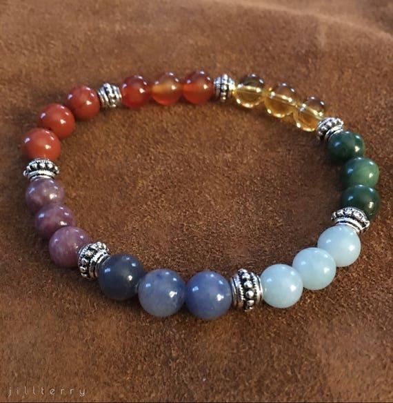 Chakra Healing Gemstone Bracelet
