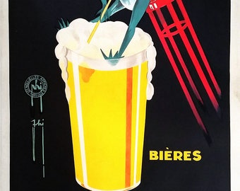 Brasserie Lengrand by G. Piana. French Vintage Beer Advertising Print/Poster. (4933)