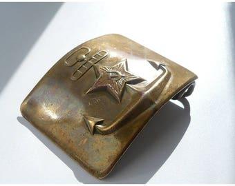 Military buckle Soviet Navy / Пряжка для ремня, морской флот, СССР