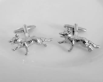 Silver Fox Cuff Links - stylish quality gift idea