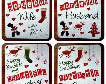 Christmas card in English language to customize 15cm x 21cm with envelope