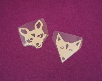 Duo heat-sealed Fox patterns for textiles