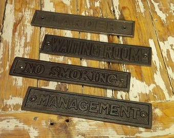 1 x Cast Iron Plaque  (6 different types (sizes vary)