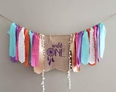 Wild One first birthday banner. Boho party banner.Boho Wild One. Pink and gold wild one. Purple wild one banner.