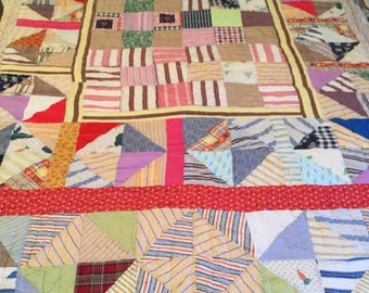 Vintage Quilt- Blocks and Triangles