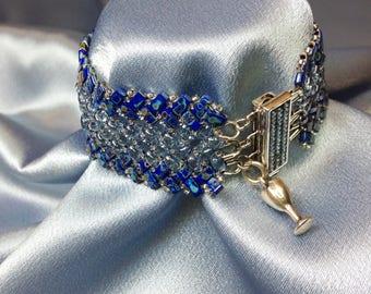 Shooting Star-Herringbone Woven Beaded Bracelet
