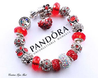 2 choices available -Sterling silver PANDORA Bracelet with all the beads -OR-select a European LOVE bracelet with charms-