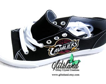Cleveland Cavaliers Canvas Low Tops (Not Converse) Tennis Shoes