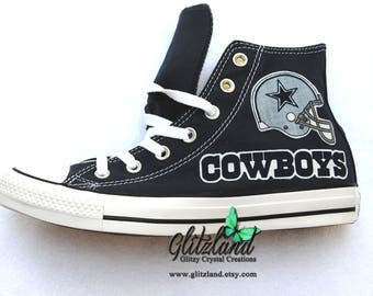 Dallas Cowboys Navy Converse All Star High Tops