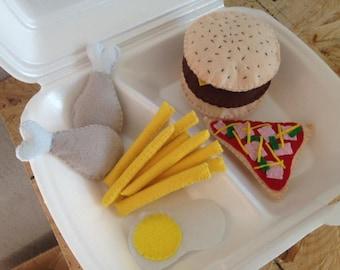 Felt board fast food collectible set