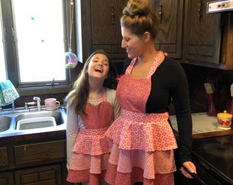 Aprons for Mother, Daughter, and American Girl Doll
