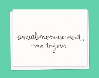Card. amicalemoureusement forever