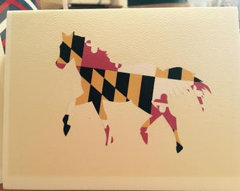 Maryland Horse Note Card Boxed Set  - set of 5 cards