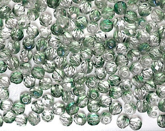 300 Crystal Green Luster coated 6mm, Preciosa Czech Fire Polished Round Faceted Glass Beads, Czech Glass Fire Polish Beads, loose