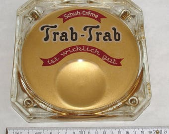 Trot trot glass number plate shoe Polish around 1930