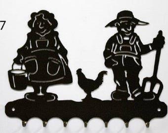 Hangs 26 cm pattern metal keys: couple farmer