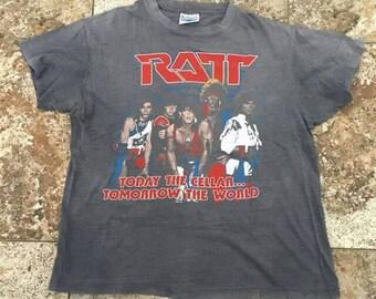 Vtg 80s RATT Ratt & Roll Small T-Shirt