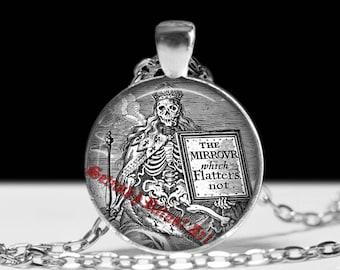 Santa Muerte pendant, Santa Muerte jewelry, Saint Death pendant, occult pendant, occult jewelry, skeleton pendant, skull pendant #371