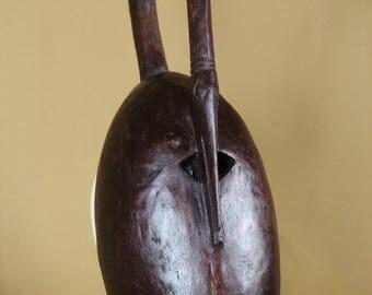 Large zoomorphic mask DJIMINI from Côte d'Ivoire