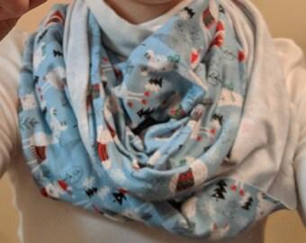 Llama knit scarf