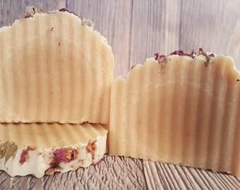 Rose Goat Milk Soap, Rose Scented Soap, Flower Soap