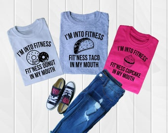 Fit'ness Tees Tacos and donuts