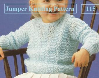 Instant Download  PDF -Pretty  Jumper Knitting Pattern  (115)
