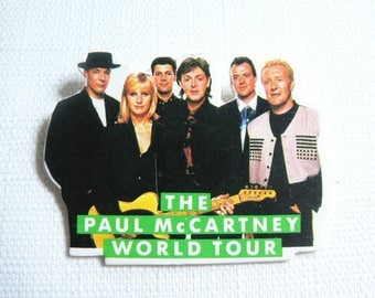 Vintage Early 90s Paul McCartney with Linda McCartney 1990 World Tour - Pin / Button / Badge