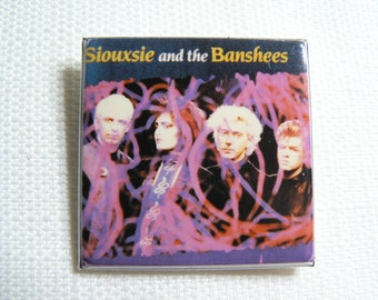 Vintage 80s - Siouxsie and the Banshees - Cities in Dust Single (1986) - Tinderbox Album - Pin / Button / Badge