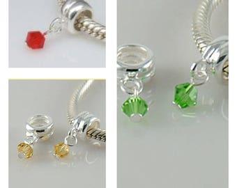 925 Sterling silver Birthday Dangle European bead charm