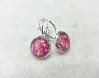 Earrings violet Sakura