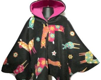 Car Seat Poncho - Infant Car Seat Poncho - Baby Poncho - Toddler Poncho - Fleece Poncho - Hooded Fleece Poncho - Car Poncho - Girls Poncho