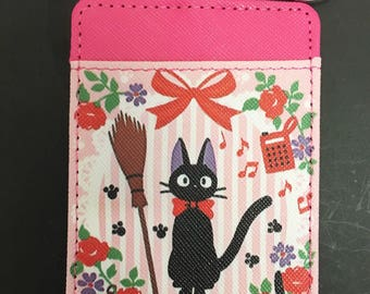 Kiki's delivery service black cat jiji studio ghibli credit debit card case purse keyring charm