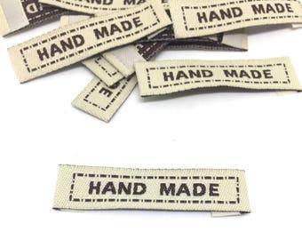 10 Label, Handmade, gray, woven