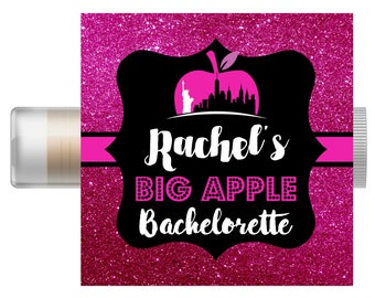 New York City Bachelorette Party Favor | Custom Chapstick | Big Apple Bachelorette | Weddin | Bridal Party | NYC Party | Hangover Kit