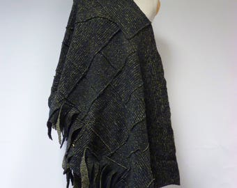 The hot price, warm military felted shawl. Perfect for Winter.