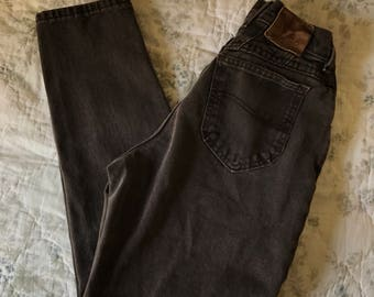 High Waisted Brown Denim Lee Jeans