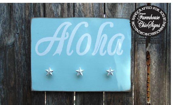 Aloha Towel Holder