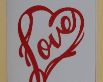 St Valentine card pop up heart