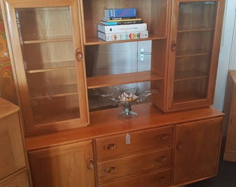 Ercol Sideboard with Display Cabinets & Storage. Contemporary/Gold Label.