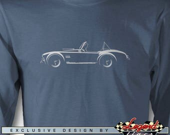 AC Cobra Replica Long Sleeves T-Shirt - Lights of Art - Multiple colors Available - Size S - 3XL - Great AC Cobra & Replica Roadsters Gift