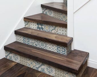 """DS00027 """"Agadir stairs"""" Stickers for stairs, fabric effect - Very high print resolution - Wall stickers"""