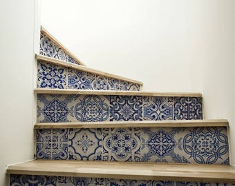 """DS00031 """"Praiano stairs"""" Stickers for stairs, fabric effect - Very high print resolution - Wall stickers"""