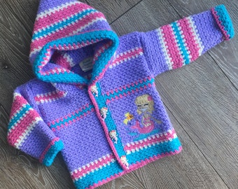 Crochet Sweater, Size 12-18 months, Crochet Baby Sweater, Mermaid Sweater, Boy Sweater, Girl Sweater, Handmade & Designed by Bahde