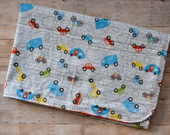 Car Snuggle Blanket - Car Swaddle Blanket - 36x36 - Cars and Trucks Blanket - Newborn Receiving Blanket - Receiving Blanket -Newborn