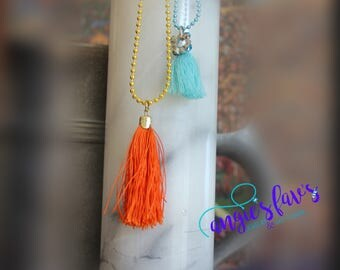 Ball Chain Necklaces, Tassels