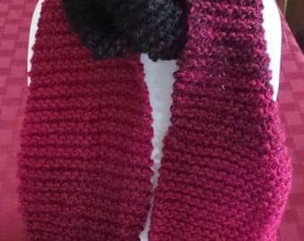 For a Donation! Long Deep Red(not pink!) Soft Scarf - See Note