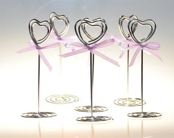 Sale! 6 pcs/set Wire Memo Photo Clip Holder Card Holder Heart Shape Wedding Party Decor