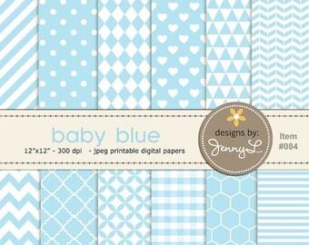 50% OFF Baby Blue Digital Paper, Boy Baptismal Digital Paper, Baby Shower, Baby Baptism colors, Nursery Room