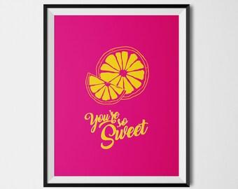 So Sweet lemon colored poster